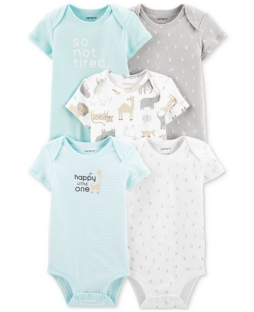 Carter's Baby Boys & Girls 5-Pk. Cotton Bodysuits