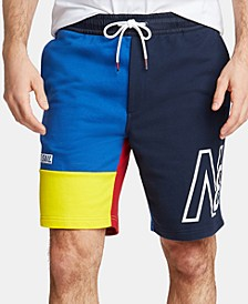 Men's Blue Sail Colorblocked French Terry Shorts, Created for Macy's