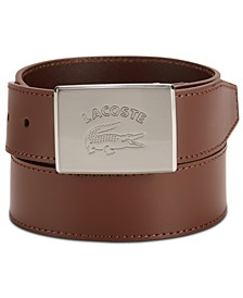 Men's Logo Buckle Leather Belt