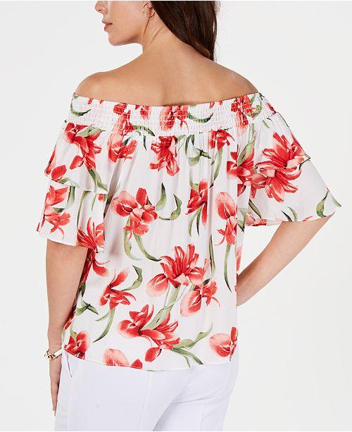 fleuri Haut Jmdessust Vintage nouerimprime crochetCollection a garnitures Orchid en et shirts pour femmes y0vw8nOmNP