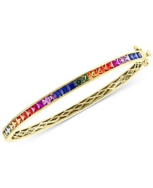 EFFY® Multi-Sapphire (3-1/3 ct. t.w.) Bangle Bracelet in 14k Gold