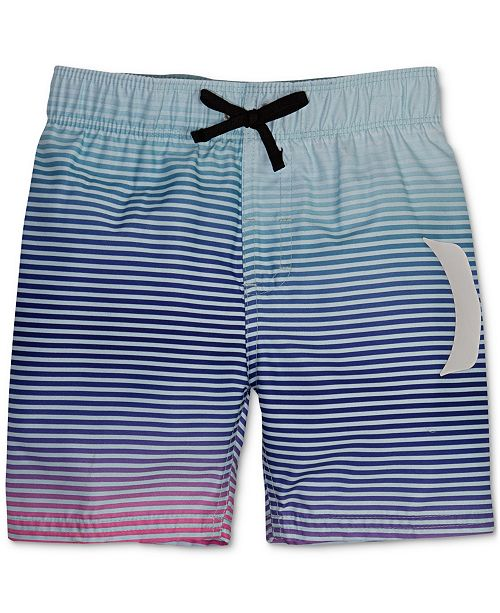 Hurley Toddler Boys Striped Swim Trunks