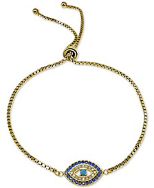 Cubic Zirconia Evil-Eye Bolo Bracelet, Created for Macy's