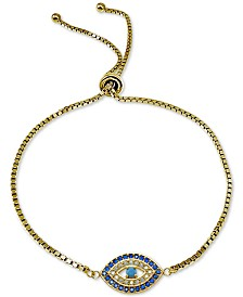 Giani Bernini Cubic Zirconia Evil-Eye Bolo Bracelet, Created for Macy's