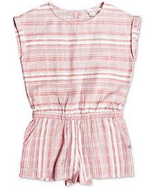 Big Girls Striped Cotton Romper