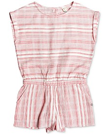 Roxy Big Girls Striped Cotton Romper