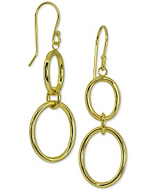 Giani Bernini Circle Drop Earrings in 18k Gold Over Sterling Silver, Created for Macy's