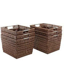 Whitmor Storage Baskets, Set of 6 Large Rattique