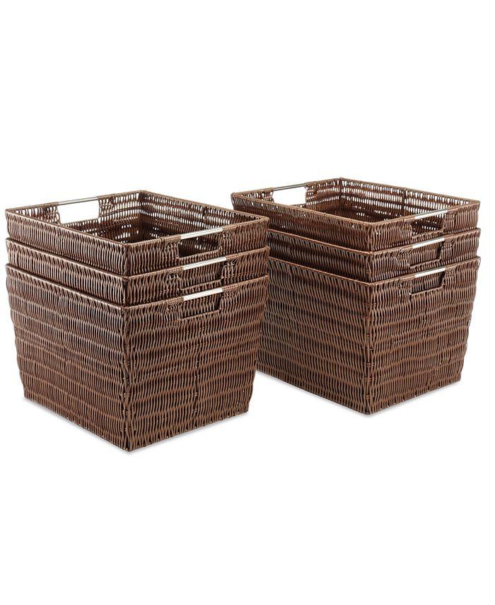 Whitmor - Storage Baskets, Set of 6 Large Rattique