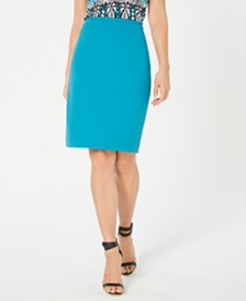 Calvin Klein Crepe Pencil Skirt