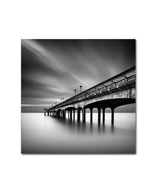 "Trademark Global Rob Cherry 'Boscombe Pier' Canvas Art - 14"" x 14"""