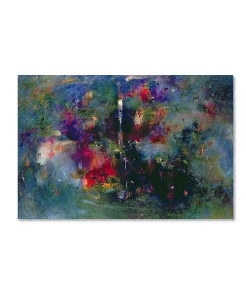 "Trademark Global Jane Deakin 'Valley of the Waterfalls' Canvas Art - 12"" x 19"""