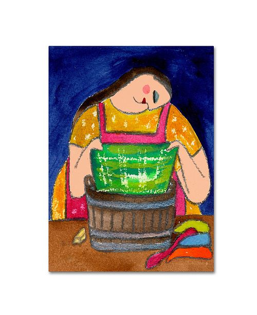 """Trademark Global Wyanne 'Big Diva It All Comes Out In The Wash' Canvas Art - 14"""" x 19"""""""