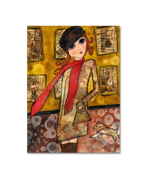 "Trademark Global Wyanne 'Big Eyed City Girl' Canvas Art - 14"" x 19"""