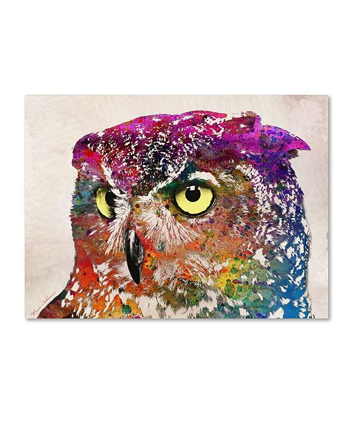 "Trademark Global Mark Ashkenazi 'Owl Drowing' Canvas Art - 14"" x 19"""