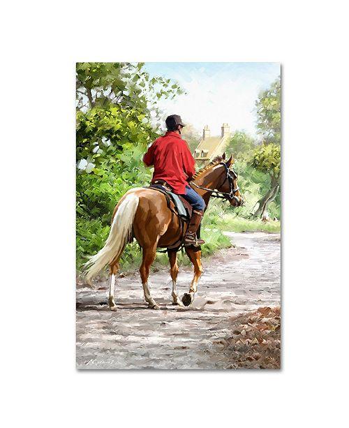 "Trademark Global The Macneil Studio 'Horse Rider' Canvas Art - 12"" x 19"""