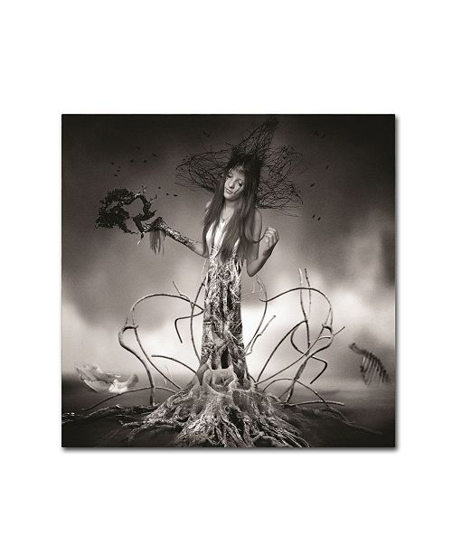 "Trademark Global Erik Brede 'Growing Up' Canvas Art - 14"" x 14"""