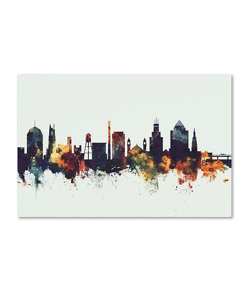 "Trademark Global Michael Tompsett 'Durham North Carolina Skyline V' Canvas Art - 12"" x 19"""