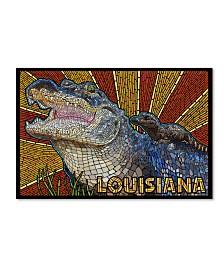 "Lantern Press 'Alligator' Canvas Art - 12"" x 19"""