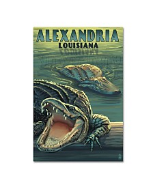 "Lantern Press 'Alligator 2' Canvas Art - 12"" x 19"""