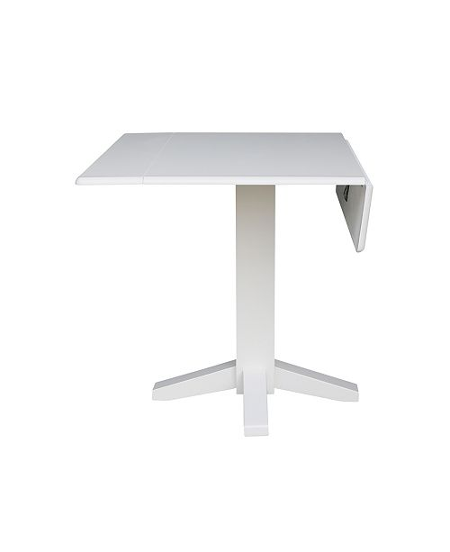 International Concepts 36 Square Dual Drop Leaf Dining Table