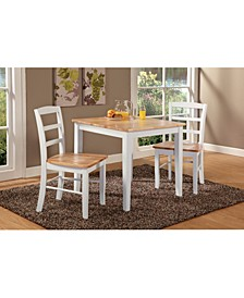 Dining Table With 2 Ladderback Chairs