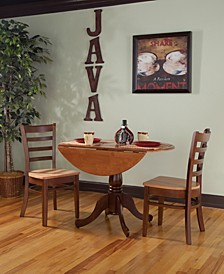 "42"" Dual Drop Leaf Table With 2 Emily Chairs"