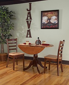 "International Concepts 42"" Dual Drop Leaf Table With 2 Emily Chairs"