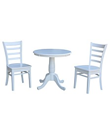 """30"""" Round Top Pedestal Table- With 2 C08-617 Chairs"""