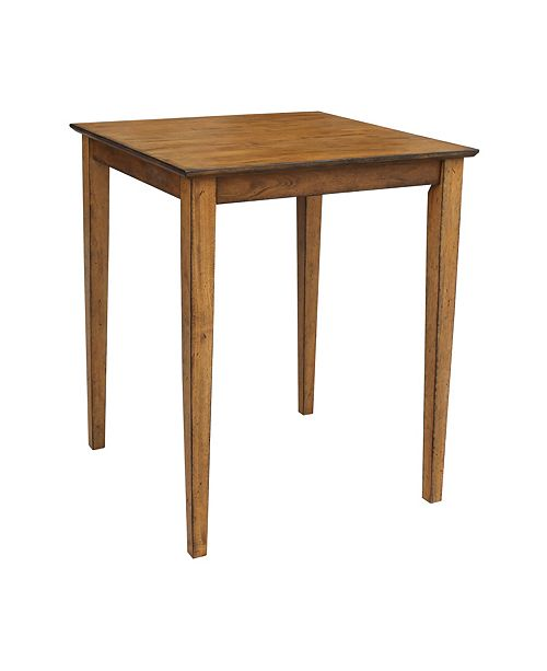 "WHITEWOOD INDUSTRIES/INTNL CONCEPTS International Concepts Solid Wood Top Table - 36"" High"