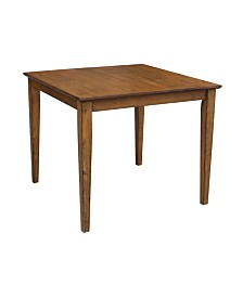 "International Concepts Solid Wood Top Table - 30"" High"