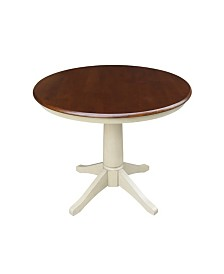 "International Concepts 36"" Round Top Pedestal Table - 28.9""H"