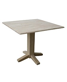 International Concepts Dual Drop Leaf Dining Table - Square