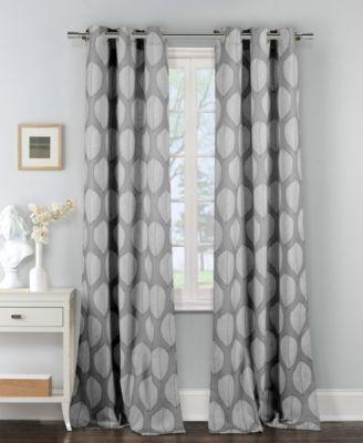"Zaria 38"" x 84"" Leaf Print Curtain Set"