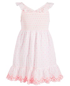 Toddler Girls Dot-Print Smocked Dress, Created for Macy's