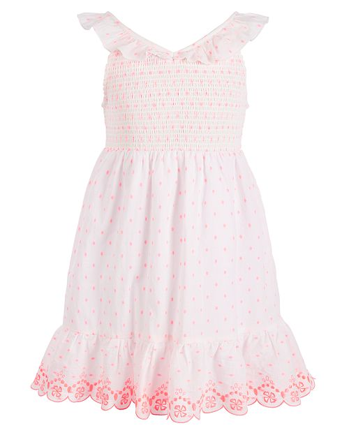 Epic Threads Little Girls Smocked Cotton Dress, Created for Macy's