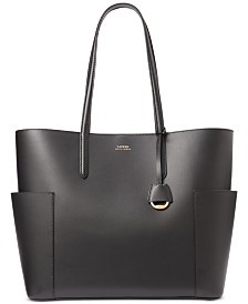 Lauren Ralph Lauren Carlyle Smooth Leather Tote