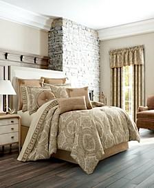 J Queen Sardinia Gold Queen Comforter Set