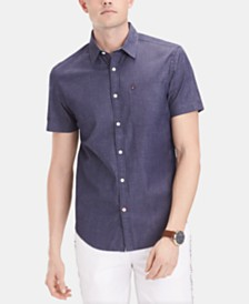 Tommy Hilfiger Men's Slim Fit Hunting Stretch Shirt