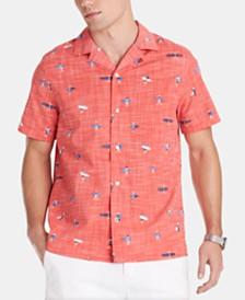 Tommy Hilfiger Men's Chip Surfer Print Camp Collar Shirt