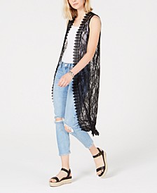 Juniors' Lace Duster