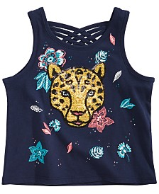 Epic Threads Toddler Girls Jaguar Graphic Tank Top, Created for Macy's