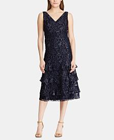 Lauren Ralph Lauren Tiered-Ruffle Lace Dress