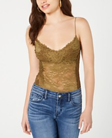 GUESS Hazeley Lace Thong Bodysuit