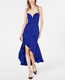 Asymmetrical Charmeuse Gown