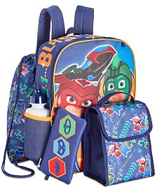 Accessory Innovations Little Boys 5-Pc. PJ Masks Graphic Backpack Set
