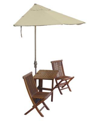 OFF-THE-WALL BRELLA, 7.5' Wide Half Umbrella with Sunbrella