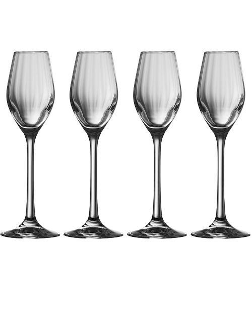 Belleek Pottery Erne Sherry Glass Set of 4