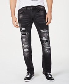 I.N.C. Men's Slim-Fit Ripped Jeans, Created for Macy's
