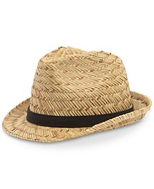 Men's Wide Weave Straw Fedora
